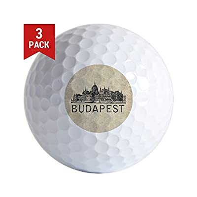 CafePress - Vintage Budapest - Golf Balls (3-Pack), Unique Printed Golf Balls