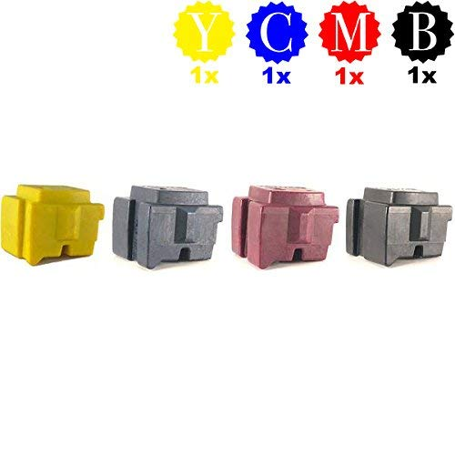 - 8570 8580 Ink Replaces 108R00926 108R00927 108R00928 108R00930 (4 Repackaged OEM Inks), Bundle Includes Professor Color Bypass Key for use in North American Printers