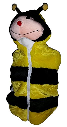 Fashion Vest with Animal Hoodie for Kids - Dress Up Costume - Pretend Play (Large, Bee)
