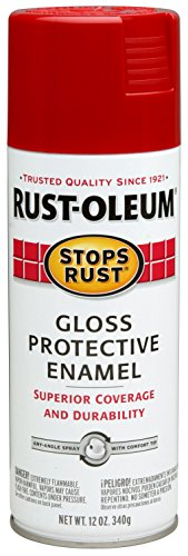 Spring Paint Chips (Rust-Oleum 7763830 Stops Rust Spray Paint, 12-Ounce, Gloss Carnival Red)