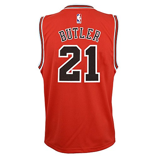 - Outerstuff Jimmy Butler NBA Chicago Bulls Official Road Red Player Replica Jersey Youth