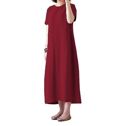 Amazon.com: CHoppyWAVE Plus Size Vintage Women Solid Color ...