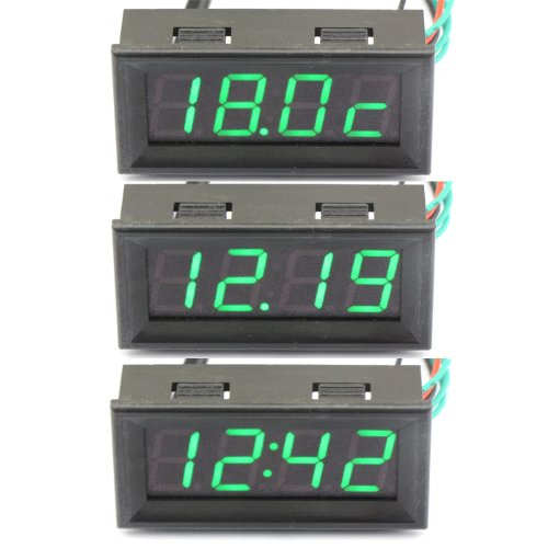 51 opinioni per DROK® 0-200V Voltmetro Digitale Auto / Moto Clock Misura Temperatura Tensione