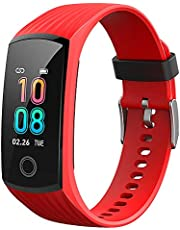 V16 Fitness Activity Tracker Smart Watch Sports Smartwatch for Men Women with All-Day Activity Tracing Heart Rate Blood Pressure Monitor Color Screen IP67 Waterproof Running Bluetooth Pedometer Steps Calories Counter Running Watch Compatible for Android & iOS
