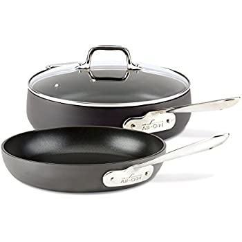 Amazon Com All Clad Nonstick Frying Pan Set Hard