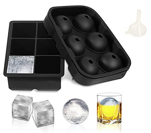 RoyalPolar Cocktail Whiskey Ice Maker Ice Cube Tray Bar Kitchen Accessories BPA Free Martini Cocktail Shaker, Bar Tool…