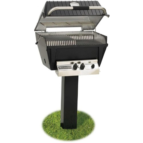 - Broilmaster P4-xfn Premium Natural Gas Grill On Black In-ground Post