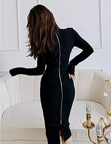 Dress Cto Sera Perspective A Temperamento Nero Skirt Abito Fashion Sexy Mesh Vestito Piccolo Slim Da qMUzVpSG