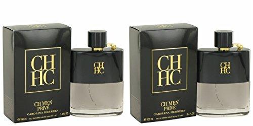 Càrolina Hérrera Ch Privé Côlogne For Men 3.4 oz Eau De Toilette Spray + a FREE 2.6 oz Deodorant Stick (PACKAGE OF 2)