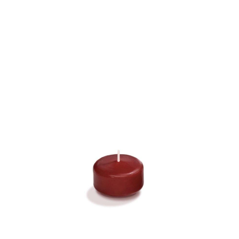 Yummi 1.75'' Burgundy Floating Candles - 20 per pack