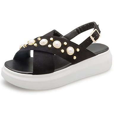 White Casual Flat US5 Mary CN35 Heel Black Walking Flat Summer Pu Buckle Light 5 Women'S Sandals RTRY EU36 Soles Dress Soles UK3 5 Marylight nUzqwagYxO