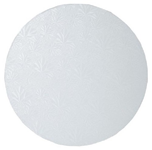 Oasis Supply Round Cake Drum, 18-Inch, White Foil