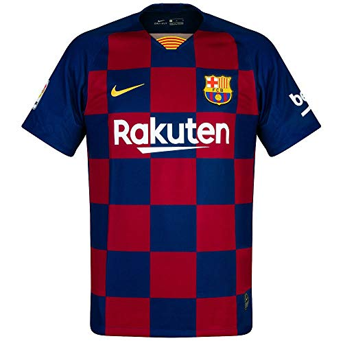 Nike 2019-2020 Barcelona Home Football Soccer T-Shirt Jersey (Kids)