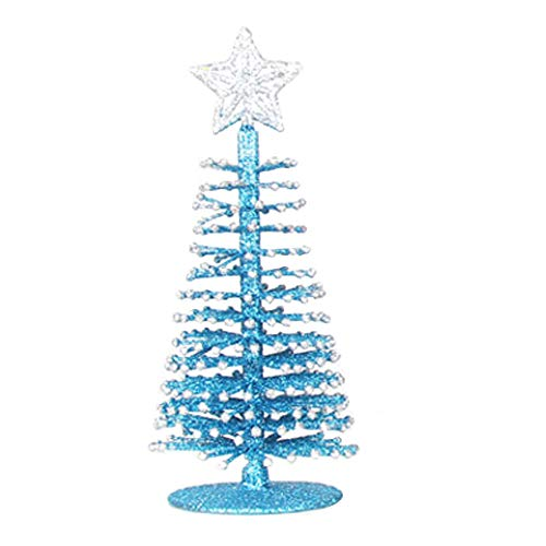 Nadition Christmas Decorations  1 PC Artificial Tabletop Mini Christmas Tree Decorations Festival Miniature Xmas Tree Gift