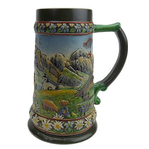 Beer Stein Tirol Austrian Alps Beer Mug by E.H.G. | 0.90 Liter ()