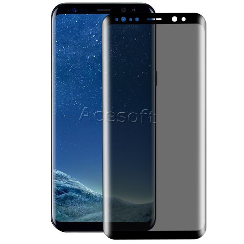Premium 3D Curved Anti-Scratch Wear-Resisting Shockproof Privacy Anti-Peep Tempered Glass Screen Protector Guard Shield Saver Armor Cover for Samsung Galaxy S8 SM-G950U Android phone by SodaPop (Image #4)
