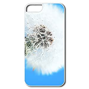 IPhone 5S Case, White Dandelion Cases For IPhone 5/5S - White Hard Plastic