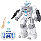 RC Robot for Kids Intelligent Programmable Robot with Infrared Controller Toys,Dancing, Singing,Blue Eyes,Gesture…