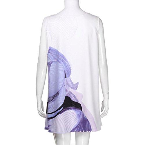 Holeider Weiß Boho Rundhals Vintage Damen Sommer Kleid Kleider Boho-kleid Mode Ärmellose Bekleidung Kurze Weiß-7 2018