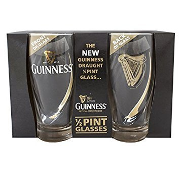 Guinness Half Pint Glasses - Livery Design by Guinness - Half Pints Beer