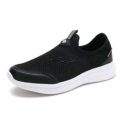 DREAM PAIRS Women's C0189_W Black White Fashion Running Shoes Sneakers Size 11 M US