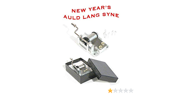 COLLECTIBLE  OCTAGON CARVING MUSIC BOX  ♫ AULD LANG SYNE   ♫