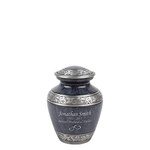 Perfect Memorials Custom Engraved Small Navy Leaves Cremation Urn