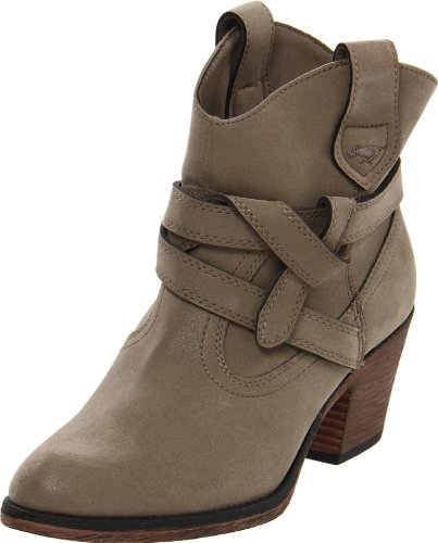 Rocket Dog Women's Sayla Vintage Worn PU Western Boot, Mushroom, 7 M US