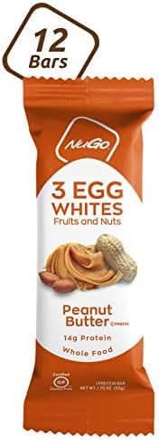 Granola & Protein Bars: NuGo 3 Egg White