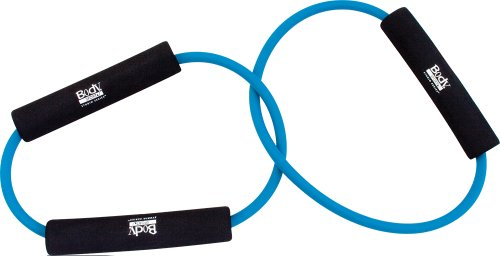 Body Sport Light Resistance Double Loop Tubing with 3 Pads, Blue