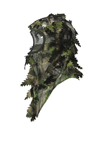 North Mountain Gear Ambush HD Camouflage Hunting Full Cover Leafy 3D Face Mask (Green, Brown, Tan) (Net Turkey Head)