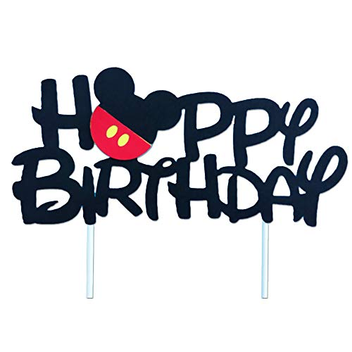Mickey Mouse Cake Decorations (GmakCeder Mickey Birthday Cake Topper for Mickey Birthday Party Cake)
