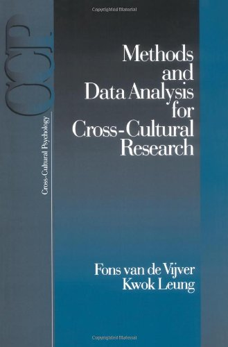 Methods and Data Analysis for Cross-Cultural Research (Cross Cultural Psychology)