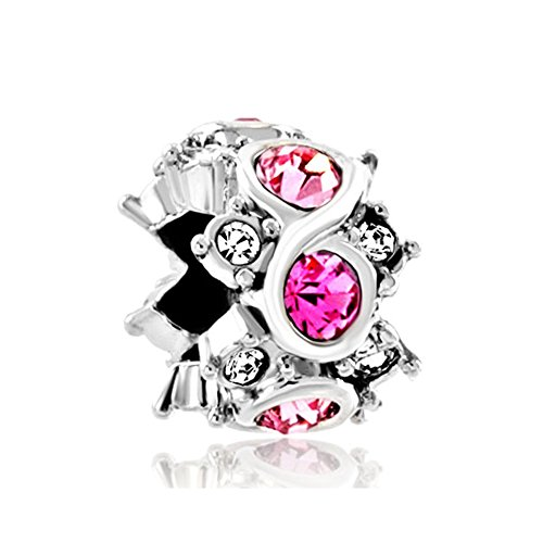 Endless Charm Love (ReisJewelry Infinity Charm Forever Endless Love Charms Bead For Bracelets (Style-1))