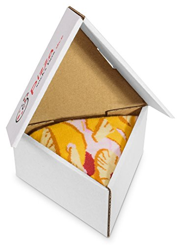 PIZZA SOCKS BOX Hawaii 1 pair Cotton Socks Made In Europe Unisex Funny Gift!