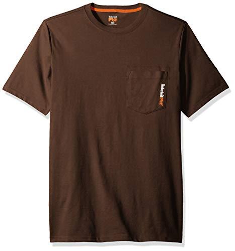 Timberland PRO Men's Base Plate Blended Short-Sleeve T-Shirt, Dark Brown, ()
