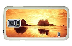 Hipster slim For Case Iphone 4/4S Cover Cases beach sundown rocks PC White For Case Iphone 4/4S Cover
