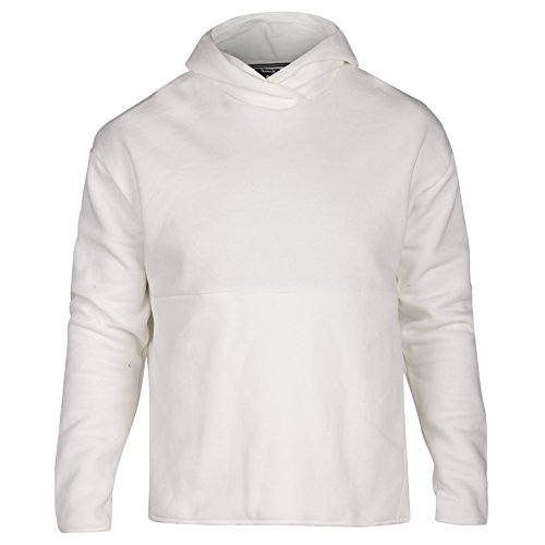 Surf Check Icon Pullover Hoodie, Sail - L (Hurley White Sweatshirt)