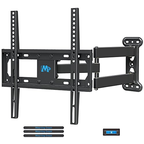 Electronics : Mounting Dream MD2377 TV Wall Mount Bracket Most 26-55 inch LED, LCD, OLED Flat Screen TV Full Motion Swivel Articulating Arm up to VESA 400x400mm 60 lbs Tilting