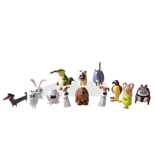 BIGOCT The Secret Life of Pets - Generic Mini Pets Collectible Figures (14 Piece)