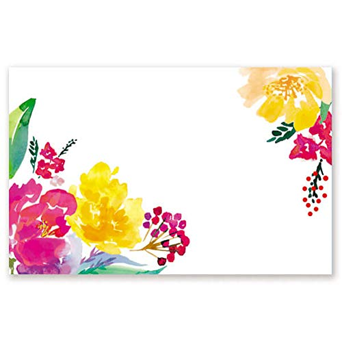 Watercolor Garden Gloss Enclosure Cards/Gift Tags - 3 1/2 x 2 1/4in. (50)