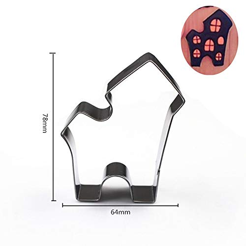 1 piece 1pcs Metal Cookie Cutter Halloween Ghost pumpkin vampire teeth sugar craft Pastry Biscuit tool Fondant Cake Decor -