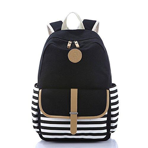 Abshoo Causal Travel Canvas Rucksack Backpacks For Girls School Bookbags Black For 24 99