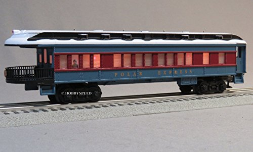 6 Passenger Car - LIONEL POLAR EXPRESS OBSERVATION CAR w/SNOW ON ROOF
