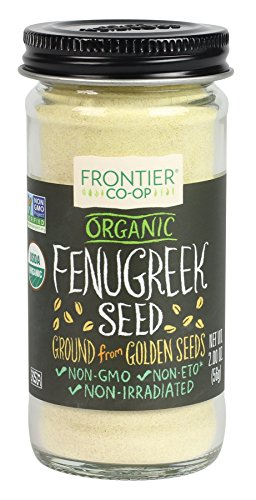 Frontier Organic Fenugreek Seed, Ground, 2 Ounce (Pack of 12) by Frontier