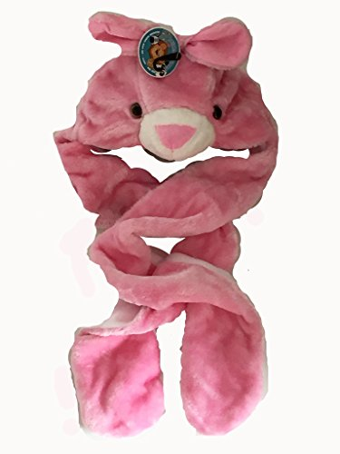 Bufanda Rosa Animal Chapka Fur Guantes Kids Snood Conejo Chef madera de TSPIvxqv