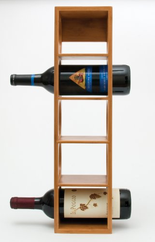 Lipper International 8305 Bamboo Wood Stackable 5-Bottle Wine Rack, 20-3/4'' x 5-3/8'' x 4-3/4'' by Lipper International (Image #4)