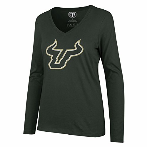 NCAA South Florida Bulls Women's Ots Rival Long sleeve Distressed Tee, X-Large, Dark Green