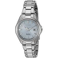 Citizen Women's ' Quartz Titanium Casual Watch, Color:Silver-Toned (Model: EW2410-54L)