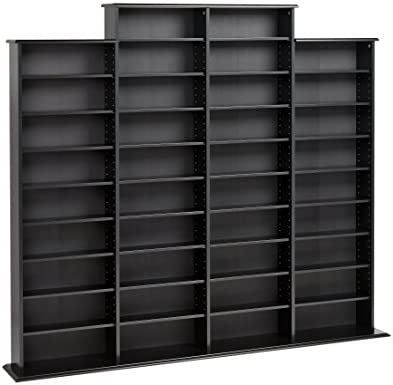 electronics, accessories, supplies, audio, video accessories, media storage, organization,  cd racks 5 on sale Prepac Quad Width Wall  Storage Cabinet, Black deals